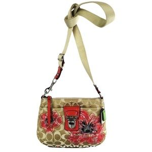COACH Limited Edition 47075 Poppy Flower Xbody Bag